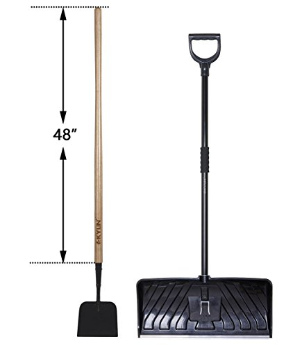 KYLIN Snow Removal Tools Set- include Ice Scraper/ 24'' Snow Shovel (SnowPusherTools05) (Snow 24)