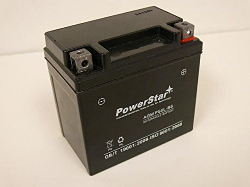 PowerStar PS5L-BS-012 Polaris ATV 90 cc 2006-2003 Predator44; Sportsman Replacement Battery