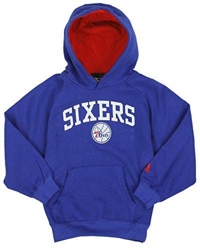 adidas Philadelphia 76ers NBA Little Boys Kids Pullover Hoodie, Blue (Blue, Large -