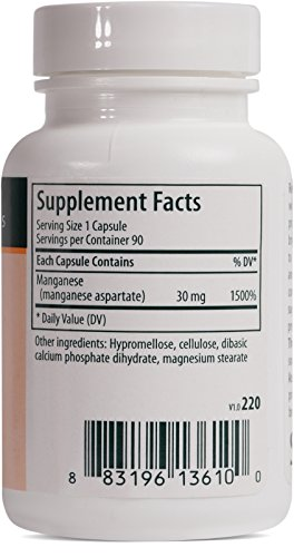 Genestra Brands - Manganese - Mineral Supplement - 90 Capsules by Genestra Brands (Image #1)
