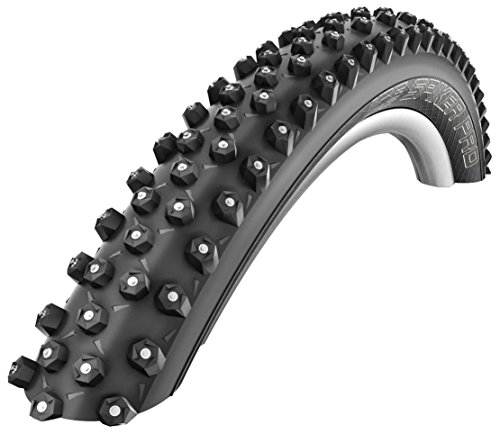 Schwalbe Ice Spiker Pro HS 379 Studded Mountain Bicycle Tire (Black - 26 x 2.10)