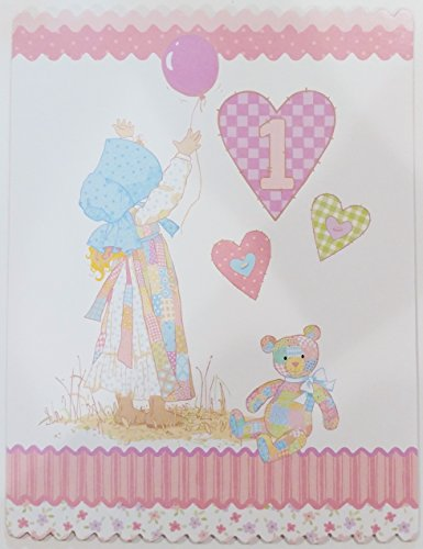 Wishing a Sweet and Precious Baby Girl - Happy First Birthday Greeting Card One Year Old 1st 1 - Holly Hobbie