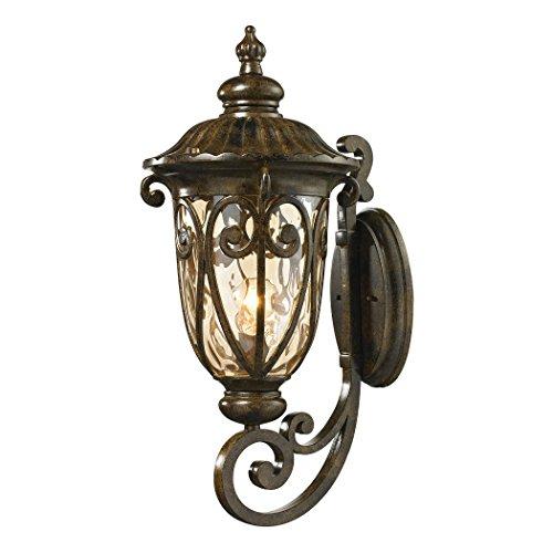 Alumbrada Collection Logansport 1 Light Outdoor Sconce In Hazelnut Bronze