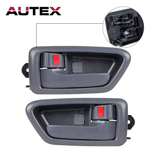 AUTEX 2 Pcs Gray Interior Front/Rear Left Right Side Door Handle Driver Passenger Side Compatible with 1997 1998 1999 2000 2001 Toyota Camry 91002 91006 6927833020B0 91003 91007 ()