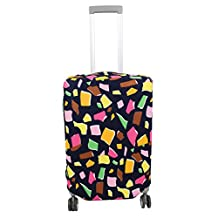 uxcell® Polyester Suitcase Elastic Washable Dustproof Cover Bag 26-28 Inch Colorful