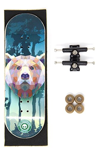 [Skull Fingerboards] The Grizzly Bear Complete Wooden Fingerboard (32mm) (Bear Grizzly Skull)