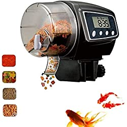 VJUKUBWINE Digital LCD Automatic Aquarium Fish Feeder Timer Food Feeding Electronic Timer Fish Supplies