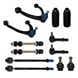 Detroit Axle - Front Upper Control Arm Replacement for Chevy GMC Silverado Suburban Sierra Yukon XL 1500 Tahoe Yukon, Cadillac Escalade, 4x Tie Rod, Sway Bar - 12pc Suspension Kit