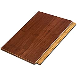 "Cali Bamboo - Solid Wide Click Bamboo Flooring, Cognac Red - Sample Size 8"" L x 5 1/8"" W x 9/16"" H"