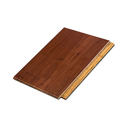 - Cali Bamboo - Solid Wide Click Bamboo Flooring, Cognac Red - Sample Size 8