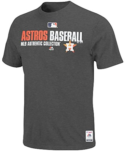 Majestic Houston Astros MLB Charcoal Team AC On Field Mens Shirt Big & Tall Sizes (4XT)
