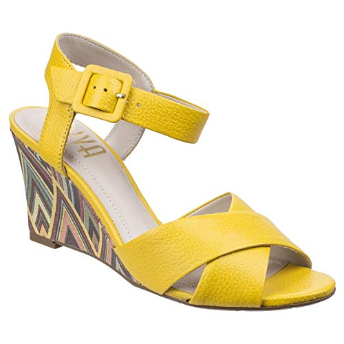 Sandals Leather Riva High Ladies Womens Wedge Yellow Emilia wnXXTYZxq