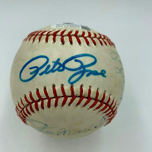 (Willie Mays Stan Musial George Brett Pete Rose 3,000 Hit Signed Baseball COA - JSA Certified - Autographed Baseballs)