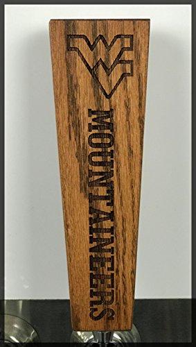 - West Virginia Mountaineers Solid Oak Engraved Tap Handle