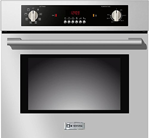 VEBIEM241SS 24 Electric 110 Volts Wall Oven With 2.0 cu. ft. Oven Capacity 8 Cooking Functions Electronic Controls 3 Pane Heat Resistant Glass Door and a Heavy Duty Oven Rack With 4 Positions in Stainless Steel