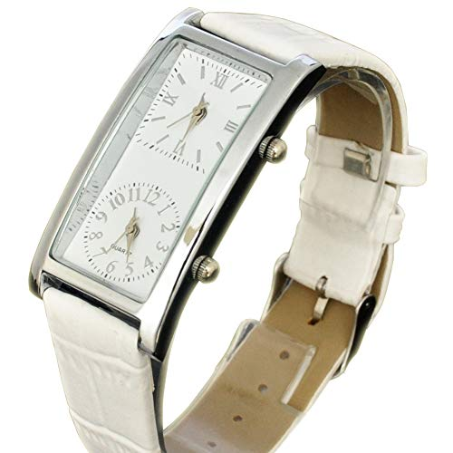 Generic Womens Quartz Watch Dual Time Color White