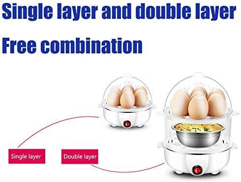 BUTTERFLYSILK Zuhause Eierkocher Elektrische Eier Dampfer, Küche Kochwerkzeug, für Harte Weiche Gekochte Eier, Dampfgarer mit Automatischer Abschaltfunktion, 350W 220V