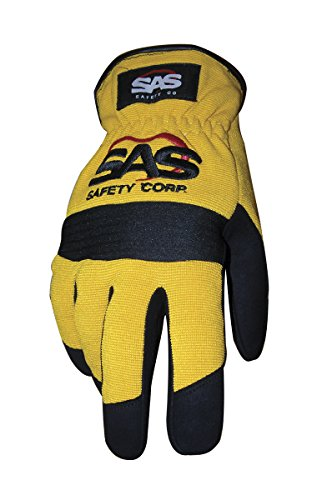 SAS Safety 6343 Mechanic's Slip-On Safety Gloves, Yellow, Large