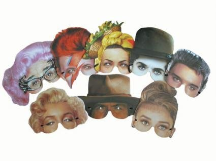 Pams Novelty Eye Masks | Famous Faces Pack 8 by Pams