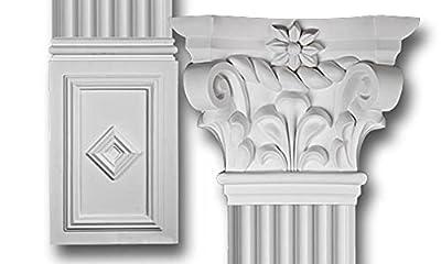 Decorative Interior Column - Scroll Top Flat Column Set