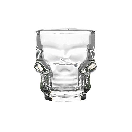 Yellsong Wine Glass,3D Transparent Creative Skull Shot Glass Crystal Head Cup for Whiskey Home Bar Wine Glass ()
