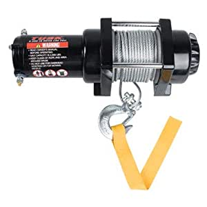 tusk winch with wire rope 2500 lb automotive. Black Bedroom Furniture Sets. Home Design Ideas