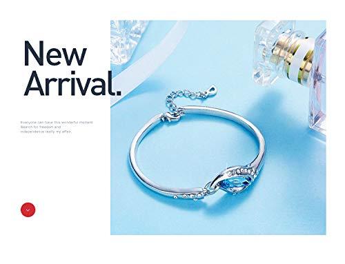 KAMLE Swarovsk Bracelet Cadeau la F/ête des m/ères Femme Fille Chaine Bracelet,Combinaison de m/étaux plaqu/és
