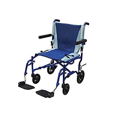 Drive Medical Transport Chair, Blue