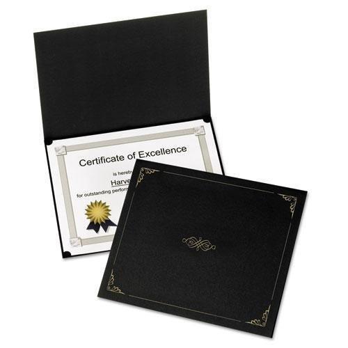 Oxford 29900055BGD Certificate Holder, 11'' x8-1/2, 5/PK, Black