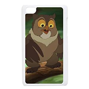 iPod Touch 4 Phone Case White Bambi Friend Owl JOI5654573