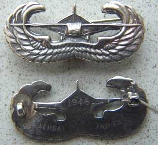 WWII US Glider Wing Badge Japan Sendai Sterling; P-1588 ()