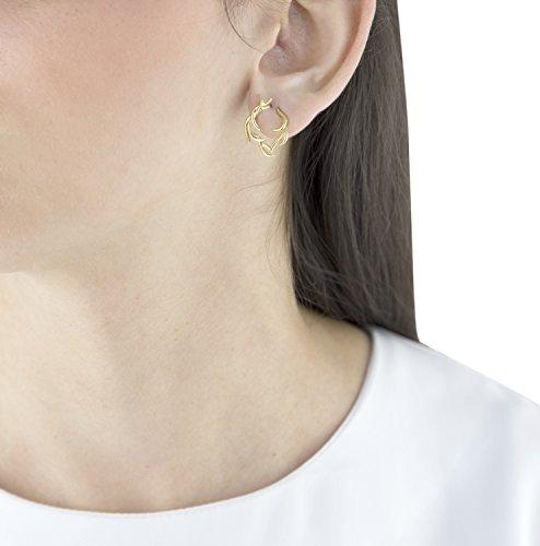 Sarah Ho Boucles d'Oreilles Or Jaune 18carats (750/1000) Ronde Diamant Blanc Femme