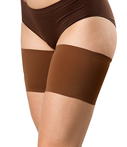Bandelettes Elastic Anti-Chafing Thigh Bands - Prevent Thigh Chafing - Chocolate Unisex, Size -