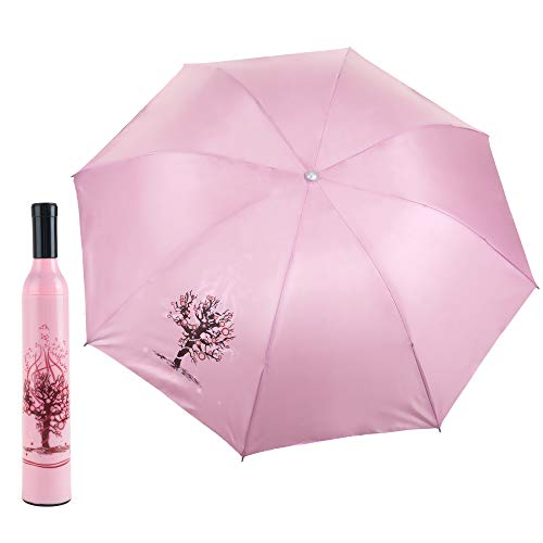 Trademark Home Wine Bottle Umbrella - Pink and Red,38 x 38 x 23.5 inches (Cute Bottle Umbrella)