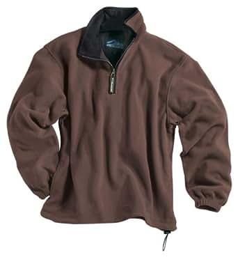 Tri-Mountain Escape Micro-Fleece Quarter-Zip Pullover, 4XL, British Tan / Black
