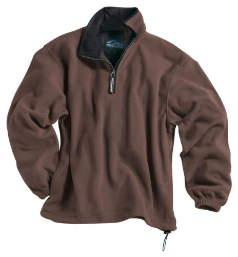 Tri-mountain Micro fleece 1/4 zip pullover. 7100TM - BRITISH TAN / BLACK_2XL