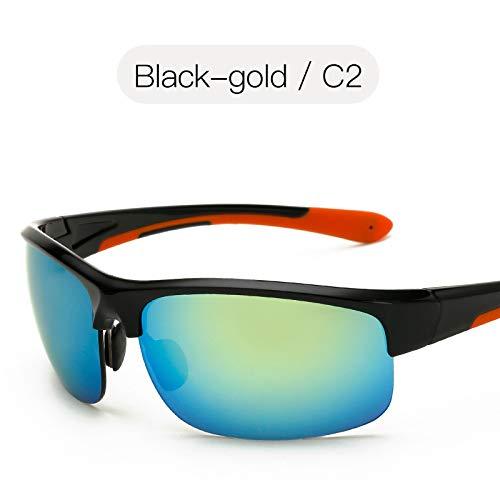 équitation Plage Mode sunglasses Sport Sport pêche nbsp;Soleil Lunettes de de Mjia de pour Lunettes Soleil de Film de gold Lunettes de Homme Couleur Lunettes Black Hw88dvRq