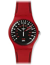 Swatch Men's Originals SUOR104 Red Silicone Swiss Quartz Watch