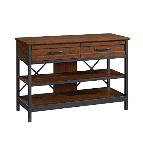 Sauder Carson Forge Anywhere Console, for TVs up to 50', Milled Cherry Finish