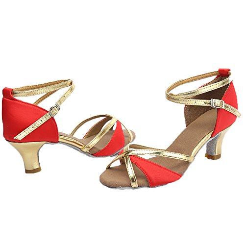 Modle Hipposeus Pour Rouge 5cm Latine Danse Uk805 Chaussures Femmes De md Satin rnAgW8xCrq