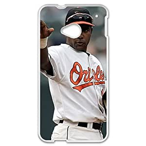 MLB&HTC One M7 White Baltimore Orioles Gift Holiday Christmas Gifts cell phone cases clear phone cases protectivefashion cell phone cases HLNB605586093