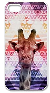 Aztec Giraffe Plastic Protective Case Slim Fit for iPhone 5 5S by lolosakes
