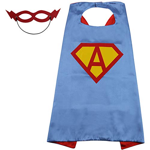 SZD Kids Superman Cape,Superman Outfit for Girls Boy,Superman Costume Kid Toddler Blue]()