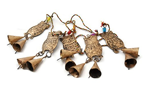 StarZebra Wind Chime Windbells - Copper Lucky Owl Wind Chimes for Soothing Sounds Into Your Garden