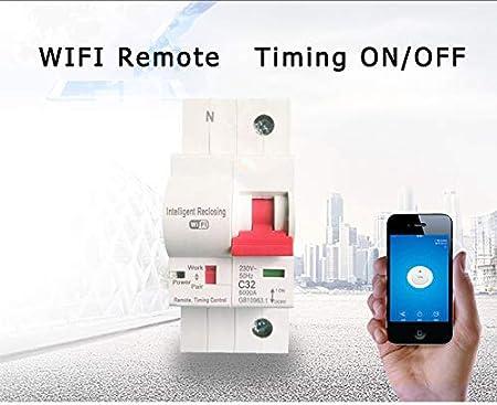 1P 32/A-132/a t/él/écommande Timing commutateur Retard de fonction Verrou automatique intelligent Recloser Wifi commutateur /électrique