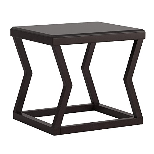 Ashley Furniture Signature Design - Kelton Rectangular End Table - Ultra Clean Lines - Contemporary - Espresso