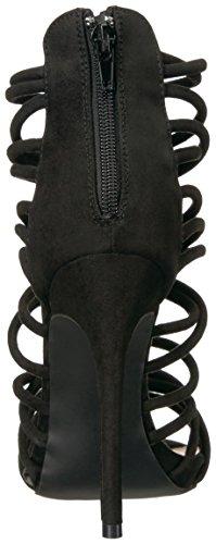 Qupid Womens Glee Faux Suede Dress Stilettos Black OC2V8K5ZeP