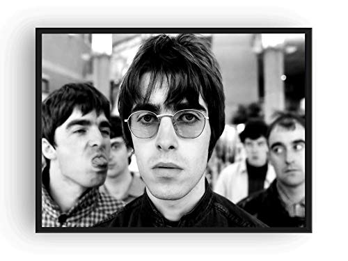 Liam Gallagher Oasis - Mile High Media Oasis Poster Black and White Print Liam Gallagher (17x22)