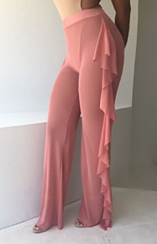 070453c74b Sexy High Waisted Sheer See-Through Fishtail Trouser Palazzo Cover ...