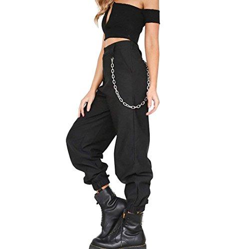 High Libero Matita Primaverile Nero Mode Eleganti Trousers Donna marca Pants Fashion Pantaloni Lunghe Fidanzato Waist di Tempo Pantalone Monocromo BOLAWOO Pantaloni Estivi Harem Tendenza n1gZ0